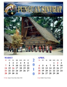 Kalender Punguan Sinurat Mart dan April