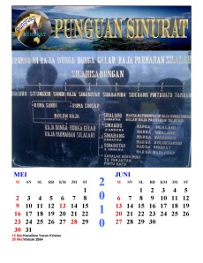 Kalender Punguan Sinurat Mei dan Juni