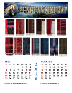 Kalender Punguan Sinurat Juli dan Agustus