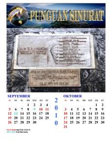 Kalender Punguan Sinurat September dan Oktober