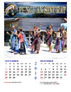 Kalender Punguan Sinurat November dan Desember